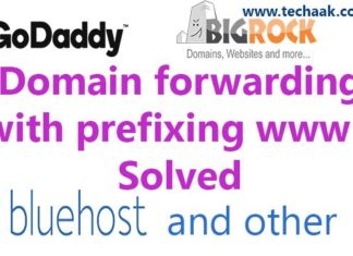 Domain forwarding with prefixing www - Solved
